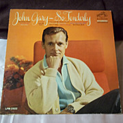 RCA Records: John Gary -- So Tenderly Vintage Vinyl Record