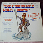 Capitol Records The Unsinkable Molly Brown Soundtrack w/ Original Broadway Cast Vinyl Record