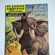 1st Edition Classics Illustrated No. 97 King Solomon's Mines HRN 96