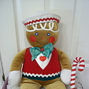Vintage Stuffed Gingerbread Man