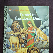 Little Golden Books: Daniel in the Lion's Den 1987 1st Edition