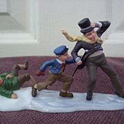 Department 56, A Christmas Carol Sliding Down Cornhill With Bob Crachit Mint in Box