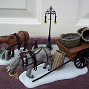 SOLD Department 56, Dickens' Village Horses at the Lampguard 3 pc. Set, MIB