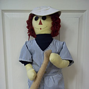 Raggedy Andy Baseball Player Stuffed Doll