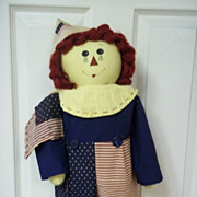 Raggedy Anne Patriotic Stuffed Doll