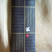 "Regal Black and Gold Vintage ""Skinny"" Tie"