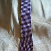 Vintage Silk Brown Tie with Pink Checks