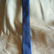 Superba Vintage Black w/ Blue Stripe Skinny Tie