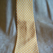 Italian Orange w/ White Polka-Dot Vintage Tie