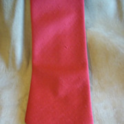 Laureate Red Textured Polyester Vintage Tie