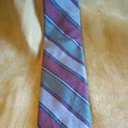Chadwick Olive, Blue, Burgundy and Grey Striped Tie
