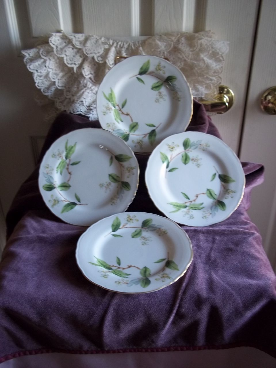 Theodore Haviland Orange Blossom China Salad Plate Set