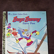 Little Golden Books: Bugs Bunny Party Pest Vintage Hardcover First Edition