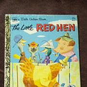 Little Golden Books: The Little Red Hen Vintage Hardcover