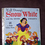 Little Golden Books: Walt Disney's Snow White and the Seven Dwarfs Vintage Hardcover