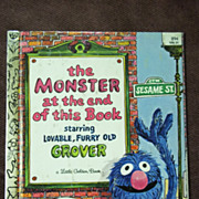 Little Golden Books: Sesame Street The Monster at the End of This Book Starring Grover Vintage