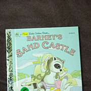 SOLD A First Little Golden Book: Barney's Sand Castle Vintage Hardcover