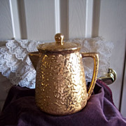 McCoy Sunburst Vintage Gold Coffee Pot