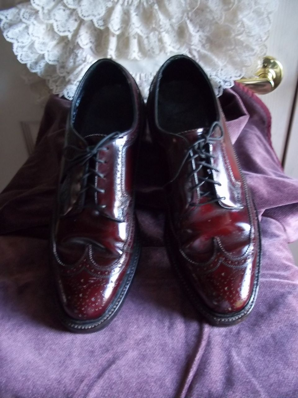 Floresheim Burgundy Shell Cordovan Wingtip Oxfords