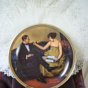 SOLD Knowles Rockwell's Rediscovered Women Collection, Plate 8: Flirting in the Parlor