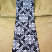 Black Tie w/ White Crests and Diamonds Patterns
