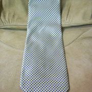 Blue, White, and Yellow Diamond Tie