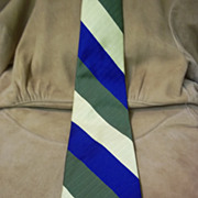 Penny's Towncraft Olive, Blue and Gold Stripe Tie