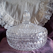 Lead Crystal Glass Lidded Candy Dish