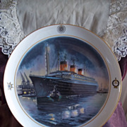 Bing and Grondahl Atlantic Liners Plate Series, No. 6: S.S. Normandie