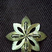 Trifari Gold Tone Starburst  Pin
