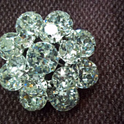 Weiss Clear Crystal Rhinestone Pin / Brooch