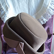 Vintage Ladies' Chocolate Velvet Hat