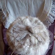 Vintage, Genuine Mink Fur, Ladies Pill Box Hat