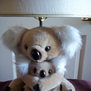 SOLD Kids Koala Bear and Baby Lamp