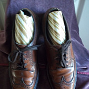 1970's Floresheim Imperial Brown Wing Tip Open Throat Oxfords