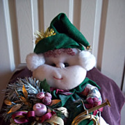 'Stuffums' Hand Made Christmas Elf by Marilyn Sheldon
