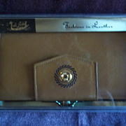 Vintage Di Lido  Ladies Leather Wallet, New in Box!