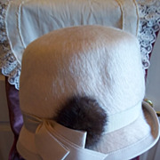 SOLD Ladies Vintage Fur Finished Wool Felt Hat by Melosdie