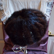 Genuine Mink Ladies Pill Box / Cage Hat