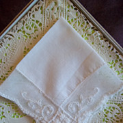Vintage White Lace Hankerchief