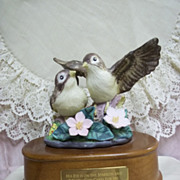 SOLD Music Box: His Eye is On the Sparrow and I Know God Cares For Me