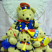 Teddy Bear Marching Band Set of 4: Bears in Toyland by Applause