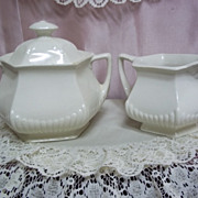 English Ironstone Sugar and Creamer by WM Adams & Sons