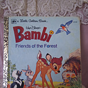Little Golden Books: Walt Disney's Bambi Friends of the Forest, 1977