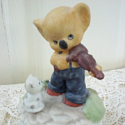Porcelain Bear Music Box by Flambro: It's a Small World