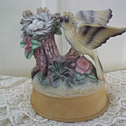 Porcelain Bird Music Box