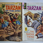 Gold Key Comics Tarzan of the Apes Pair of Vintage Comics