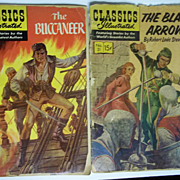 Classics Illustrated Comic Pair: The Black Arrow AND The Buccaneer
