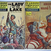 Classics Illustrated Comic Pair: Knights of the Round Table AND The Lady in the Lake