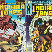 Marvel Comics The Further Adventures of Indiana Jones Pair: No. 8 and No. 21